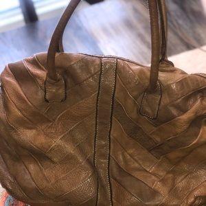 Lucky brown leather handbag